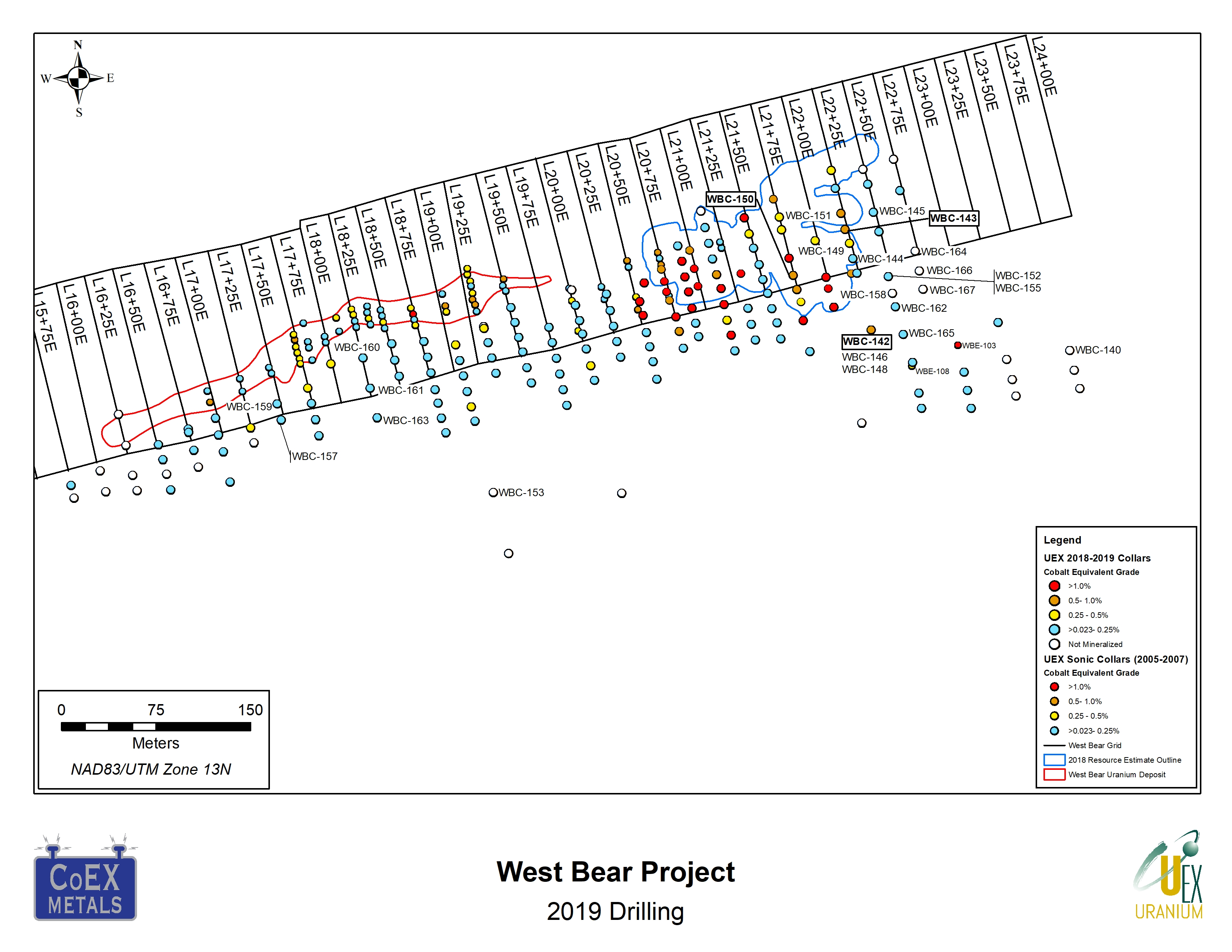 UEX intersects 0 55% Co & 1 39% Ni over 4 0 m at West Bear
