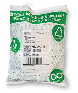 The new Recylene material blend features a unique formula containing over 50% recycled content. This content is a blend of industrial and consumer recycled poly. The recycled consumer material is sourced mainly from the curbside recycling of food-quality poly used in milk jugs.