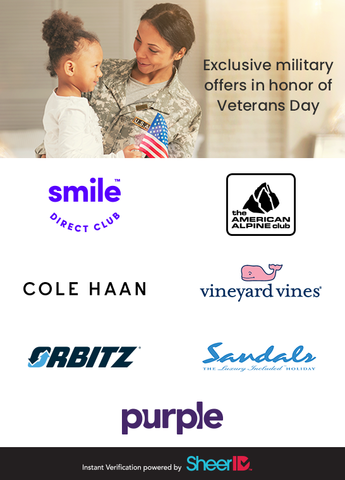 Exclusive Military Offers for Veterans Day