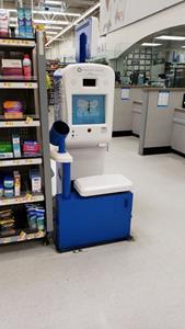 InnerScope Hearing Information Kiosks in Walmart Pharmacy Area