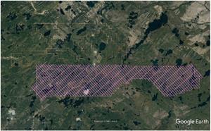 Figure 1: Proposed VTEM Survey grid – December 2018