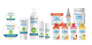 Alkaline88 CBD Product Portfolio - Topicals and Ingestibles
