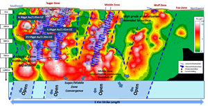 Longitudinal Projection - Near Mine Mineralization