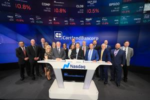 Cortland Bancorp Rings the Nasdaq Stock Market Closing Bell
