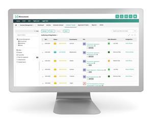 HighQ Corporate Legal Platform Display