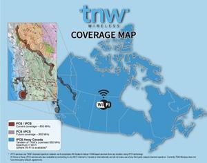TNW Wireless Network Coverage Map