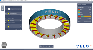 Velo3D Flow Software User Interface - Stator Ring Design