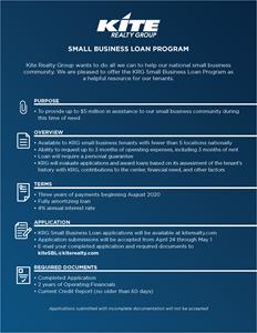 KRG Small Business Loan Program Brochure