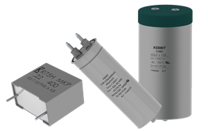 KEMET film capacitors for green energy and automotive applications.