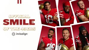 Align Technology's Invisalign brand and San Francisco 49ers join forces to promote winning smiles.