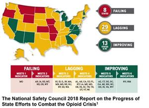 The National Safety Council 2018 Report on the Progress of State Efforts to Combat the Opiod Crisis