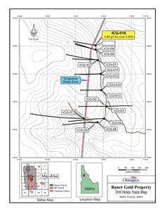 Map of current drilling locations within the Baner property