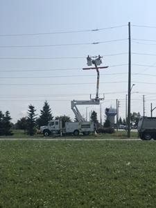 Alectra Utilities crews working on modernizing Barrie's electricity grid