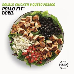 New Keto Certified Double Chicken & Queso Fresco Pollo Fit Bowl