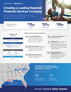 First Horizon National Corporation and IBERIABANK Corporation to Combine in Merger of Equals to Create a Leading Regional Financial Services Company