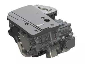Nidec's fully integrated automotive traction motor system E-Axle (announced in April 2018)