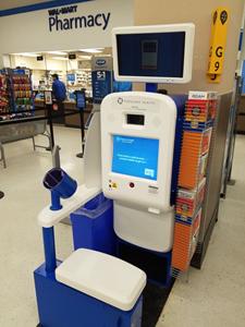 InnerScope Hearing Information Kiosk in Walmart Pharmacy