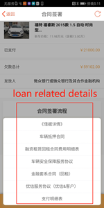 Example 4 - Loan related details, including contract and agreement, payment summary, etc.
