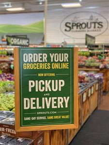 Sprouts Pickup Sign