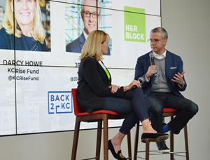 Darcy Howe, founder and managing director of KCRise Fund and Jeff Jones, president and CEO of H&R Block discuss H&R Block's $2M investment in the Kansas City start up community through the KC Rise Fund II.