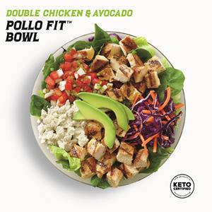 New Keto Certified Double Chicken & Avocado Pollo Fit Bowl