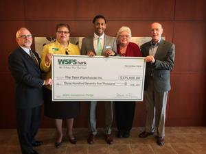 WSFS Foundation donates $375,000 to The Teen Warehouse