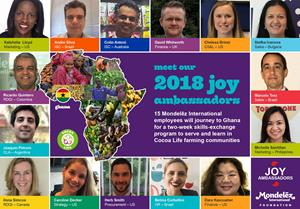 Meet MDLZ's 2018 Class of Joy Ambassadors!