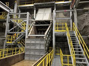 Lower mine crusher installation