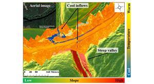 Cains River Temperature Map