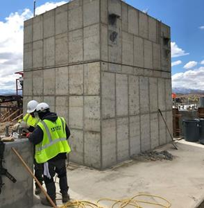 Completed concrete for the vertical mill