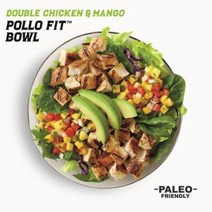 New Paleo Friendly Double Chicken & Mango Pollo Fit Bowl