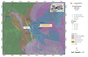 Figure 2: Plan Map of the Nib Prospect