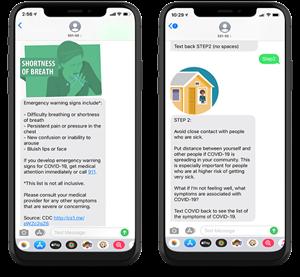 Coronavirus Text Message Alerts
