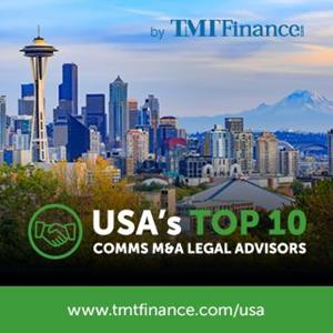 TMT Finance Top 10 US Communications M&A Legal Advisors for 2019