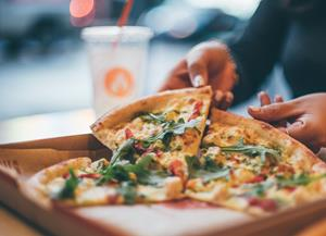 Blaze Pizza's Signature Green Stripe Pizza