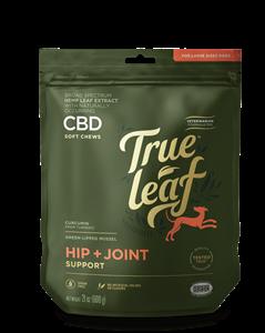 True Leaf Broad Spectrum Hemp Leaf CBD HIP + JOINT Chews