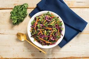 Tangy Kale Slaw with Cilantro and Honey