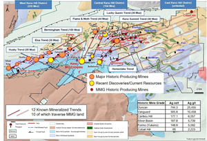 Figure 1: Keno Hill Silver District – Geology and Deposits