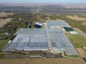 Drone Photograph of Hemp Greenhouse Facility