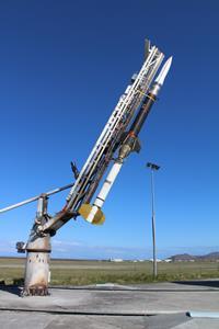 Guided ARAV-B vertical on the launcher