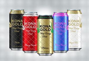 Kona Gold Hemp Energy Drink Product Line
