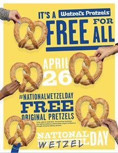 Wetzel's Pretzels Celebrates National Wetzel Day 2019
