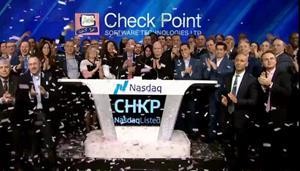 Check Point's leadership celebrates 22 years on NASDAQ
