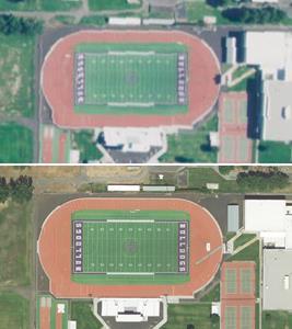 Hermiston High School's football field, Hermiston, Oregon.