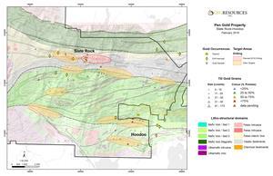 Figure 3: Slate Rock Drill Target Map