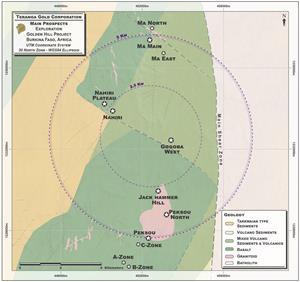 FIGURE 1: GOLDEN HILL PROPERTY – PROSPECT LOCATION MAP