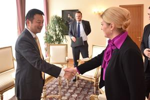 James Liang meets with Croatian President Kitarović