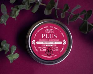PLUS™ 2018 Holiday Limited Edition: Cranberry & Shortbread Gummies