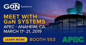 Meet with GaN Systems at APEC 2019
