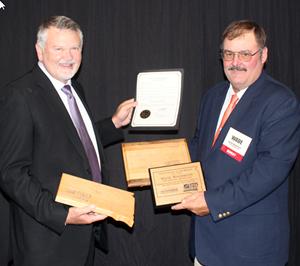 South Dakota Trucking Association Awards Wade Wagemann and Rick Hoogendoorn of YRC Freight